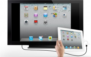 iPad an TV mit HDMI Adapter