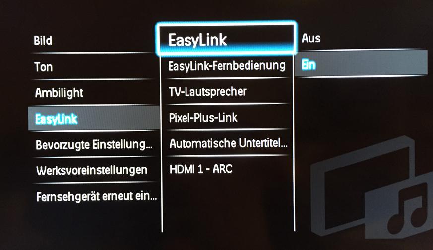 HDMI-CEC aktivieren