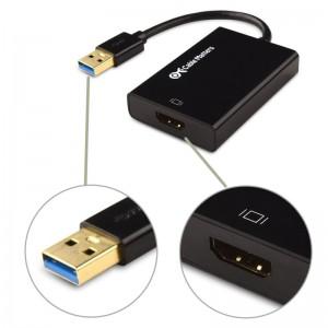 Liefert gute Ergebnisse: USB 3.0 auf HDMI Adapter